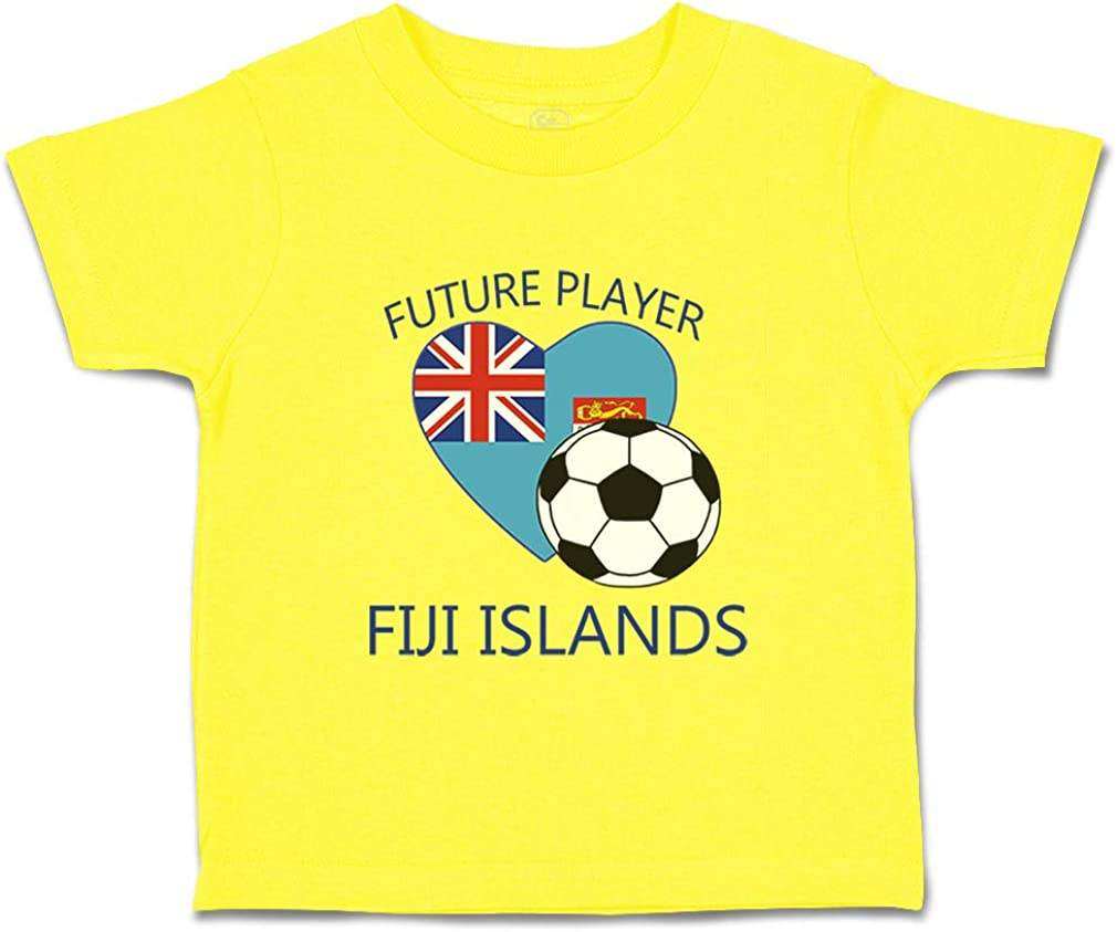 Custom Baby /& Toddler T-Shirt Future Soccer Player Fiji Islands Boy Girl Clothes