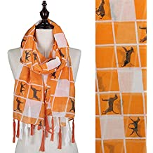 """Tennessee Plaid Scarf with """"Smokey"""", Logo and Tassel"""