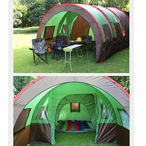 the best attitude f7e14 6fe01 IOOkME-H 8-10 Person Family Camping Tunnel Tent Portable Cabin Tent  Waterproof Double Layer One Bedroom Two Living Room for Outdoor Picnic  Camping ...