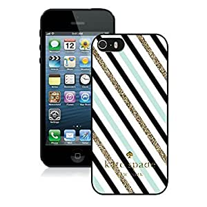 Live the Life You Love Infinity Quote (Not Actual Glitter) - Mint Black Chevron Pattern Iphone 5 5S Hard Case - WHITE by Unique Design Gifts