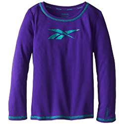 Reebok Little Girls' Long Sleeve Mesh Top