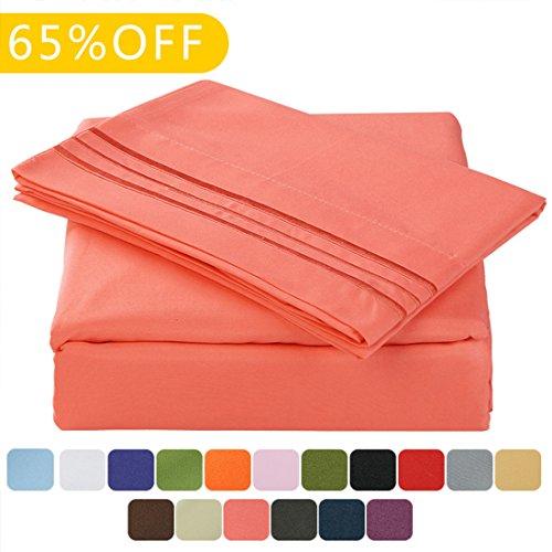 TasteLife 105 GSM Deep Pocket Bed Sheet Set Brushed Hypoalle
