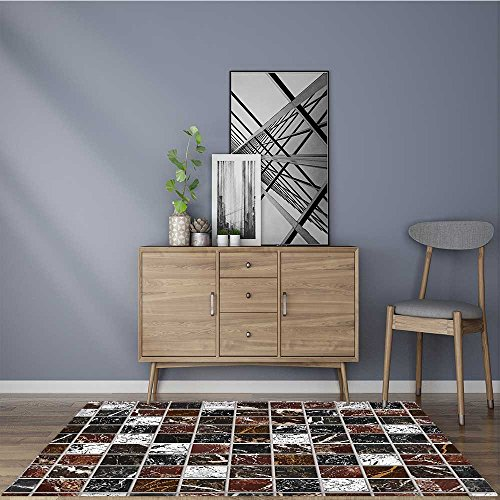 for Home or Travel Figure with Ceramic Featured Tiles Maroon Dimgray Easier to Dry for Bathroom 22''x36'' by Muyindo
