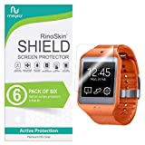 samsung galaxy gear 2 neo case - [6-Pack] RinoGear for Galaxy Gear 2 Neo Screen Protector [Active Protection] Full Coverage Flexible HD Crystal Clear Anti-Bubble Film