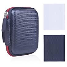 Rancco® Samsung T5/ T3 EVA Case & Silicone Protective Bag Comb, Shockproof Travel Carry Pouch for Samsung T5/ T3/ T1 Portable SSD Hard Drive(250G 500G 1T 2T)