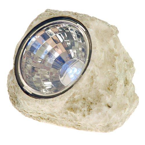 GSL SS-GSL-K5017 8 Inch Outdoor Garden Stone Solar Spot Light (Stone Solar Spot Light)