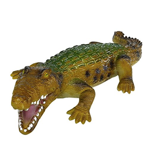 BESTLEE Large Yellow Alligator Toy Figures For Kids Crocodile Toy Action Figures 23.2 x 3.3 inches -