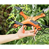 Fineser X10 WIFI FPV Quadcopter with HD Camera RTF 2.4GHz 6 Axis Gyro with Altitude Hold Function,Headless Mode and One Key Return Home (Orange)