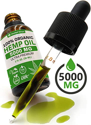 Hemp Oil Extract for Pain, Anxiety & Stress Relief - 5000MG / 30ML - Organic Hemp Oil for Better Mood, Sleep Support - Pure Hemp Seed Oil - Rich in Omega 3-6-9 Oils, Vitamins & Fatty Acids