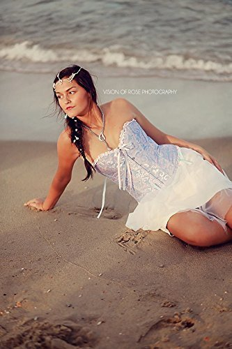 Etsy Halloween Costumes (Amrita's White and Gold Pearl Crochet Bridal Matha Patti, Bollywood, Gypsy, Boho, Goddess, Festival,Fantasy, Renaissance, Costume)