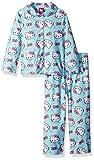 Hello Kitty Toddler Girls' 2-Piece Pajama Coat Set, Minty Kitty, 2T