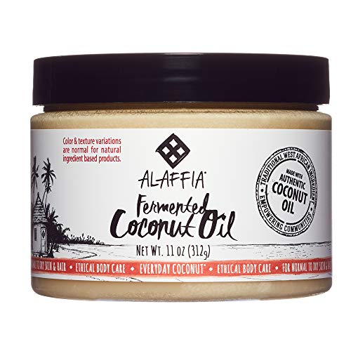 (Alaffia - Everyday Coconut Fermented Coconut Oil, Normal to Dry Hair and Skin, Restorative Vitamins and Minerals Help Smooth and Soften, with Coconut Extract, Fair Trade, 11 Ounces)