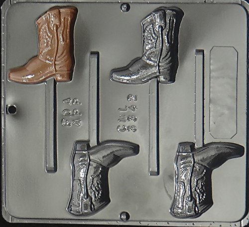 Cowboy Boot Lollipop Chocolate Candy Mold 3342 (Pan Cake Boot Western)
