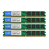 TECMIYO DDR2 PC2-6400 (240-Pin DIMM, 800MHZ), DDR2 Ram 8GB Kit (4X2GB) Desktop Memory RAM Modules