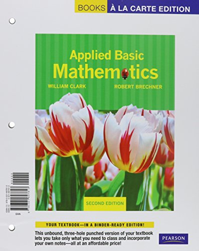 Applied Basic Mathematics, Books a la Carte Plus MML/MSL (for ad hoc valuepacks) -- Access Card Package (2nd Edition)