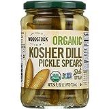 Woodstock Pickles - Organic - Kosher Dill - Spears - 24 oz - Pack of 6
