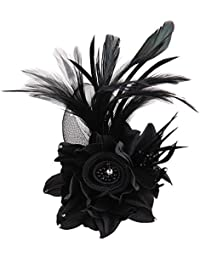 Charming Mesh Feather Hair Clip Women Girls Hairpin Cocktail Party Flower  Barrette Fascinator Hat bd13386e6f9