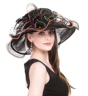 Saferin Women's Organza Church Derby Fascinator Bridal Cap British Tea Party Wedding Hat