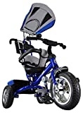 Kiddo Blue Smart Design 4-in-1 Childrens Tricycle Kids Trike 3 Wheel Bike Parent New (Blue)