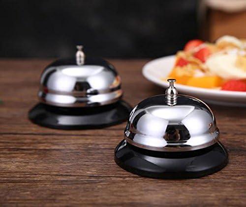 MINGZE Tischglocke Anruf Glocke. Rostfreier Stahl Große Bar Glocke, Küche Glocken genannt (Gelb)