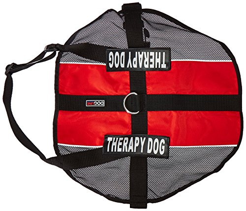 Dogline N0253-3-0211 MaxAire Mesh Vest for Dogs and 2 Removable Therapy Patches, X-Large/30