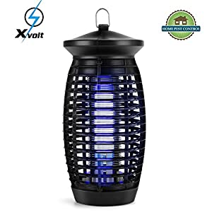 Xvolt Bug Zapper,Electric Fly Trap Indoor Mosquito Zapper,500sq.ft.Coverage Fly Zapper Mosquito Trap Insect Killer with 120V UV Light Bulb,for Home Kitchen Outdoor Garden Patio Yard[2018 UPGRADED]