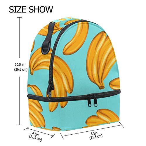 con para correa el diseño ajustable hombro plátano de con Alinlo Bolsa térmica vx1qw0Ynz