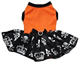 Petitebella Orange Shirt Black Skull Crown Tutu Puppy Dog Dress (XX-Large) Review