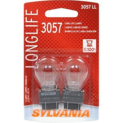 Sylvania 3057LL Long Life Miniature Lamp, (Pack of 2): Automotive