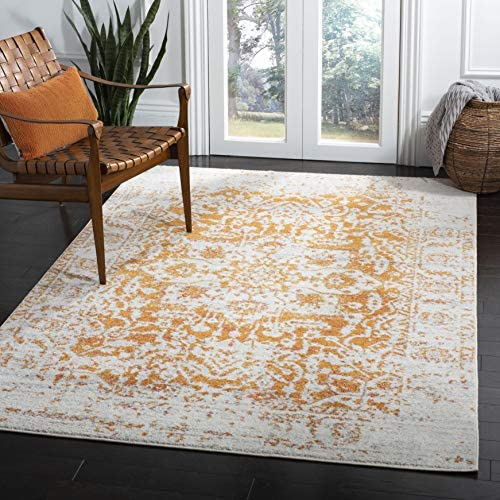 Safavieh MAD603P-8 Rug, 8 x 10 , Orange Ivory