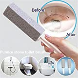 Natural Pumice Stone Toilet bowl ring remover(2pcs/pack) - Pumice Cleaning Stone with Handle for Kitchen, Grill, Bath, Spa, tile, Household Cleaning