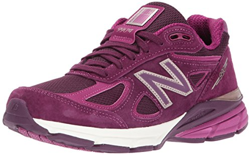 New Balance Women's 990V4 Running Shoe, Dark Mulberry, 8 B ()