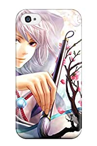 Heidiy Wattsiez's Shop 4541690K50386024 Fashion Tpu Case For Iphone 4/4s- Girl Painting Defender Case Cover