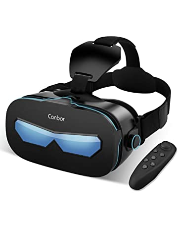 812bf110b1 Canbor VR Headset with Remote Controller, Virtual Reality Headset 3D VR  Goggles Glasses for 3D