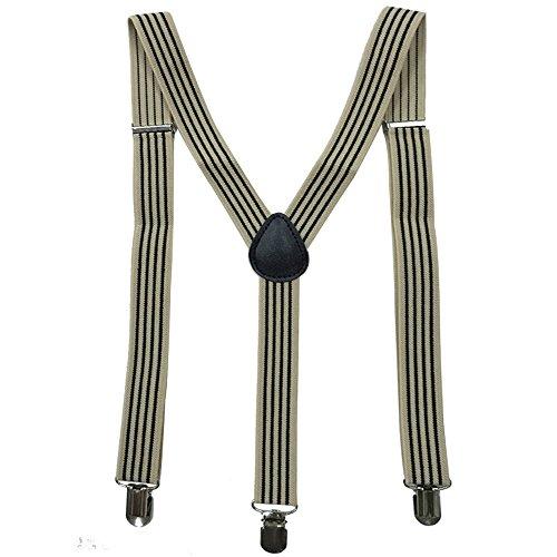 AINOW Skinny Solid Color Y-Back Adjustable Elastic Suspenders Pure Color