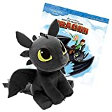 Dreamworks How To Train Your Dragon 12 inch Plush Toothless with a 30 Page - Pocket Full of Dreams - Story Book Combo Pack