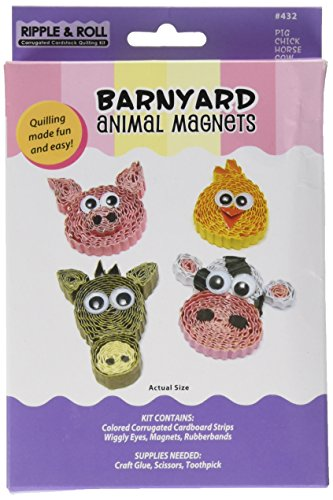 Quilled Creations Q432 Quilling Magnet Kit, Barnyard Animal