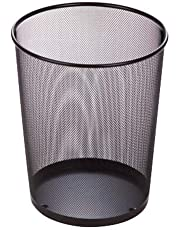 Honey Can Do Trs-02102 Stainless Steel Trash Basket, Black