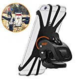 Bike Phone Mount, Stoon 360°Rotatable Universal Bicycle Phone Holder Adjustable Silicone Bike Motorcycle Handlebar Mount for iPhone Xs X 8 7 7 6s 6 Plus, Android Smartphones(4.7'-6.0') (Black)