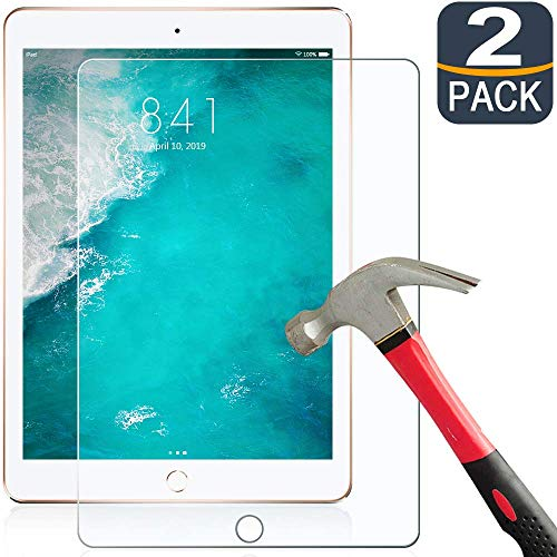 iPad Air 2 Screen Protector, [2 Pack] Premium Tempered Glass for iPad 2018/2017 / Air 2 / Air 1/Pro 9.7 inch/6th/5th Generation[9H Hardness][Scratch-Resistant][HD Clear], Protect Your Tablet