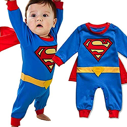 Peachi Superman Superbaby 1 Piece Baby Toddler Infant Rompers Unisex 12m-3T(70-95) (18-24M (80))