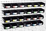 Pegboard Bins – 24 Pack Black - Hooks to Any