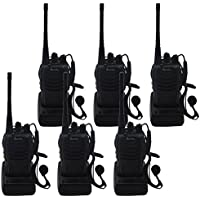 Blomiky H-777 6 Walkie Talkie 3W Signal Band UHF 400-470MHz Two Way Radio H777 6 Pack