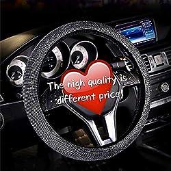 Woolen Crystal Rhinestone Universal Steering Wheel Cover