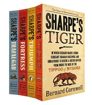 book cover of Sharpe\'s Tiger / Sharpe\'s Triumph / Sharpe\'s Fortress / Sharpe\'s Trafalgar