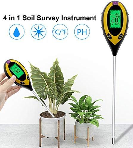 pH granja Probador de suelo Yeelight interior luz solar exterior 4 en 1 medici/ón de humedad PH para plantas medidor de plantas temperatura jard/ín