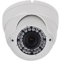 HDView 2.4MP 4-in-1 HD (TVI/AHD/CVI/960H) 1080P Outdoor SONY Sensor 2.8-12mm Vari Focal Lens Turbo Platinum Dome Camera Eyeball White