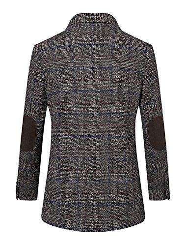 UNbox Mens Dress Casual Business Suit Two Button Slim Fit Suit Khaki XL by UNbox (Image #4)'