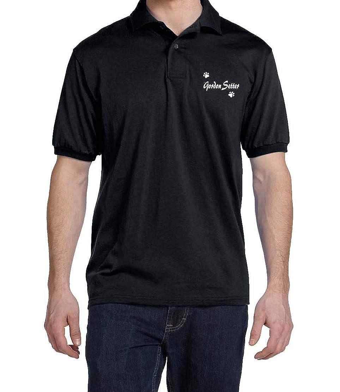 Gordon Setter Dog Paw Puppy Name Breed Polo Shirt Clothes Men Women