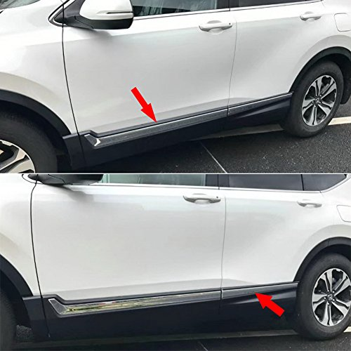 (Beautost For Honda 2017 2018 2019 CR-V CRV Chrome Body Side Door Molding Trim Cover Stainless Steel)